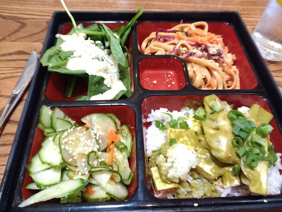 Winona Lake, IN: Bento box with green curry