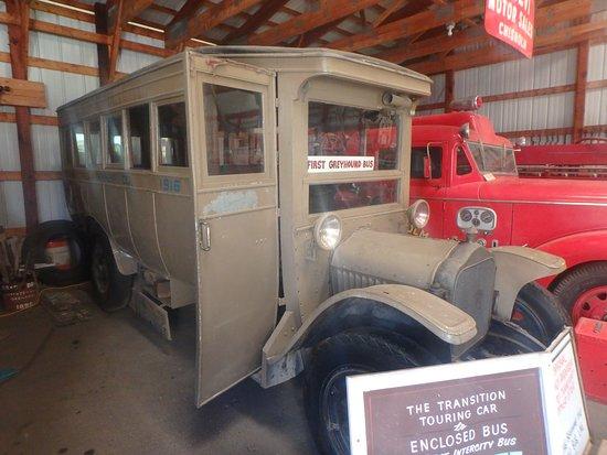 Chisholm, MN: an original Greyhound bus