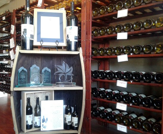 Oliver, Kanada: Some wine trophies for Castoro de Oro