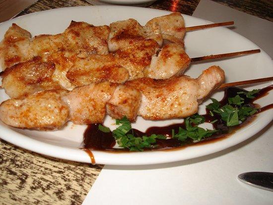 Pano Platres, Siprus: Chicken Souvlaki