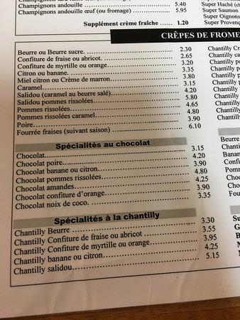 Brandivy, فرنسا: tarif crêpes