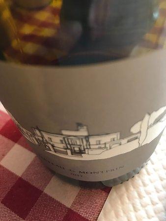 Genets, France: l'étiquette du côte du rhône bio choisi par François qui recommande des vins de récoltants