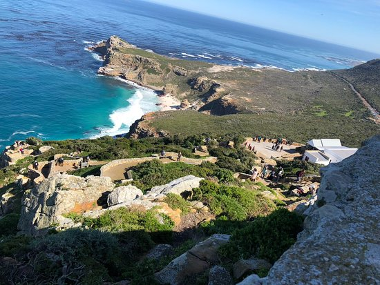 Cape Point, África do Sul: View along the route to the lighthouse