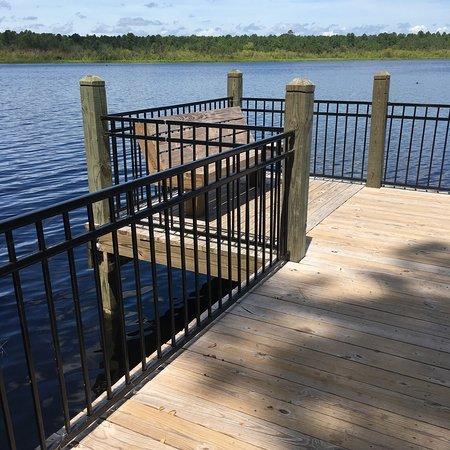 แฮมพ์ตัน, เซาท์แคโรไลนา: Fishing pier on the bigger lake