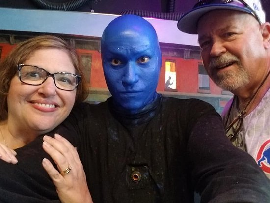 Blue Man Group: Blue Man Selfie. Yes, he took the pic!