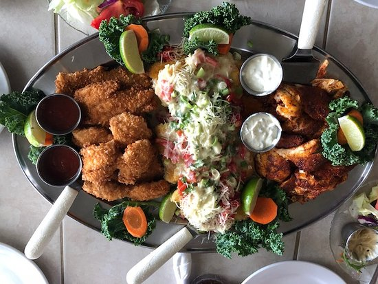 Lazy Days South: Our cooked catch, Lazy Days style in the middle