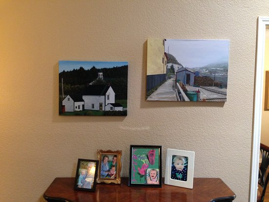 Carbonear, Canada: Local artist David Connolly's paintings purchased at Ocean View Art Gallery
