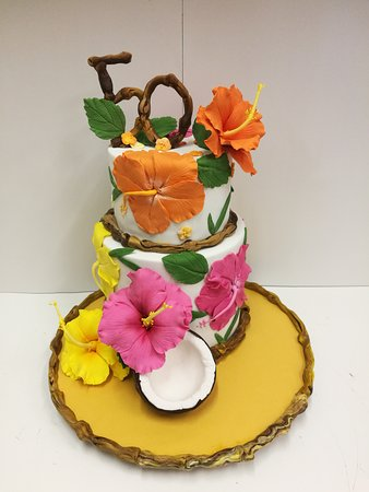 Pasticceria Mancuso Hawaiian Theme 50th Birthday Cakes