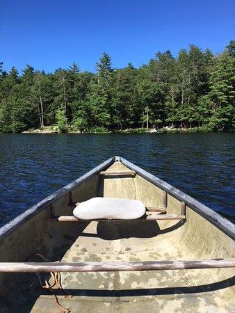 Sutton, NH: paddling around the lake on a beautiful day....