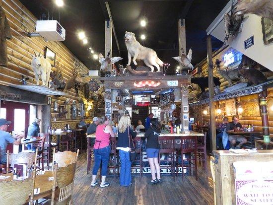 Handlebars Restaurant & Saloon: Inside of Handlebars