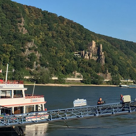 Trechtingshausen, Germania: Burg rheinstein aus Sicht von Assmannshausen