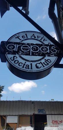Arepas sign @ 77 Herzl, Tel Aviv