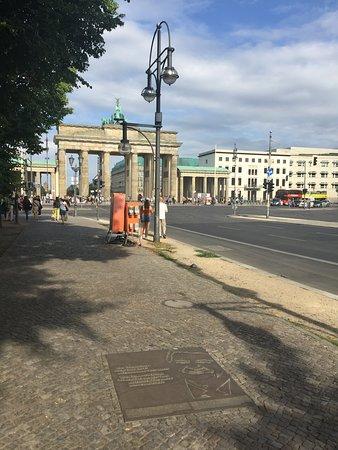 Ronald Reagan Memorial Plaque Berlin