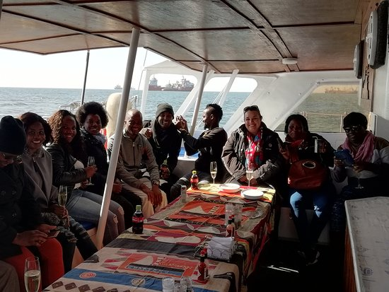 Catamaran Charters: End of tour to the port...as you can see those moments lasted