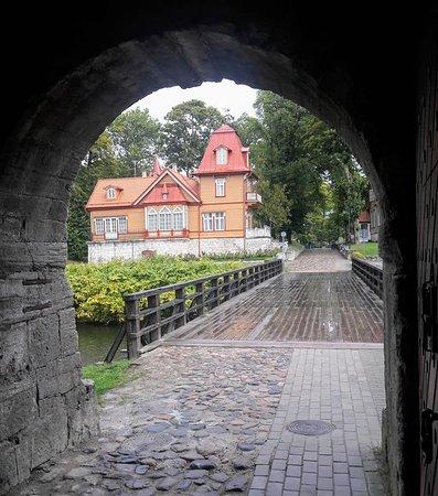 Saaremaa, Estonia: Exit through perimeter wall and over moat.