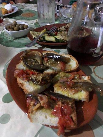 Torretta, Italy: antipasto - peperonata