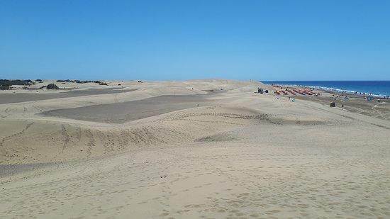Playa de Maspalomas: Písek,kam oko dohlédne