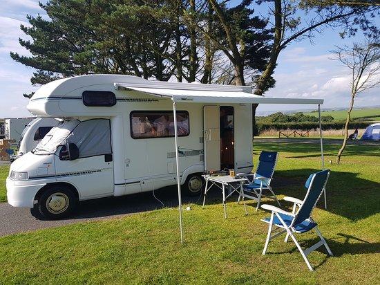 Hasguard Cross, UK: All set up at Redlands