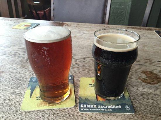 Foxfield, UK: Two halfs make a whole, pint.  May 2018.