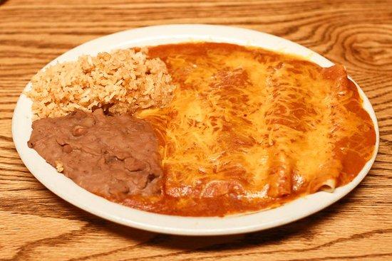 Rocksprings, TX: Cheese Enchilada Plate