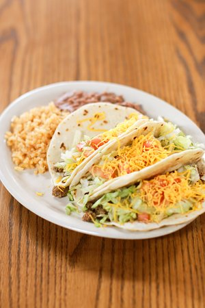 Rocksprings, TX: Soft taco plate