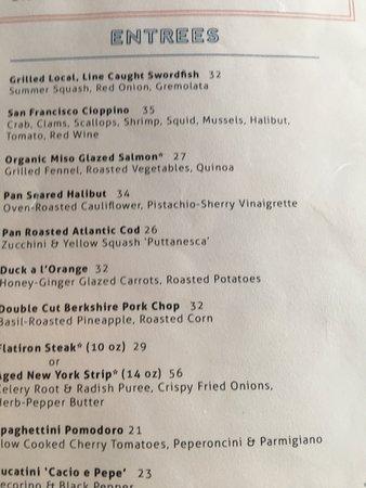 Claudio's Restaurant: Entrees from Claudio's menu