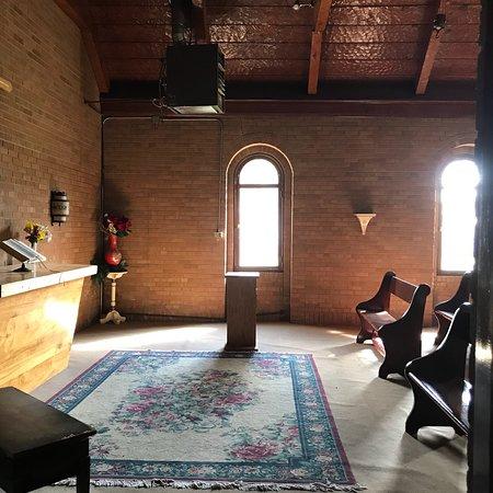 Fort Stanton, นิวเม็กซิโก: Inside the old mission.