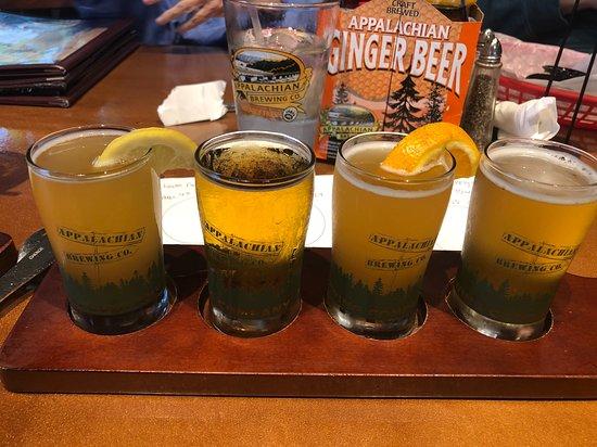 Appalachian Brewing Company - Gettysburg Battlefield: Sample flight - beers chosen by customer
