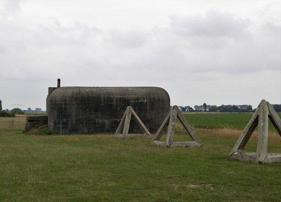 Groede podium, speel- en infopark: Oude bunkers