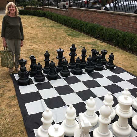 Wisbech, UK : International Chess Day on Centenary Green.