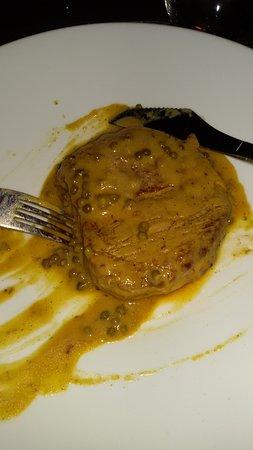 Aci San Filippo, Italia: filetto al pepe verde
