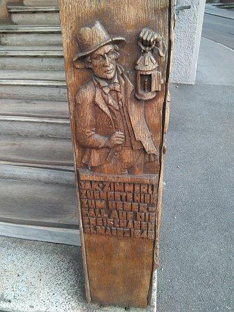 Malters, Швейцария: Detalle en las escaleras de entrada al hotel