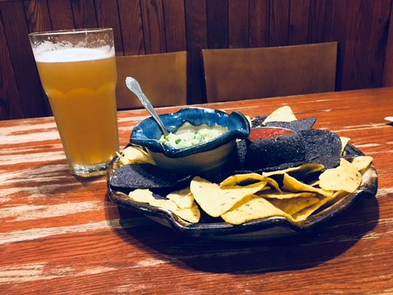 Saint Joseph, MN: Fresh Guacamole with chips and a summer beer