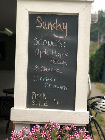 Halfmoon Bay, Canada: sunday menu