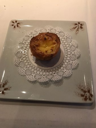 Oporto Cafe: Infamous Pasteis de Nata/Creamy Custard filling in a Flaky Puff Pastry Crust