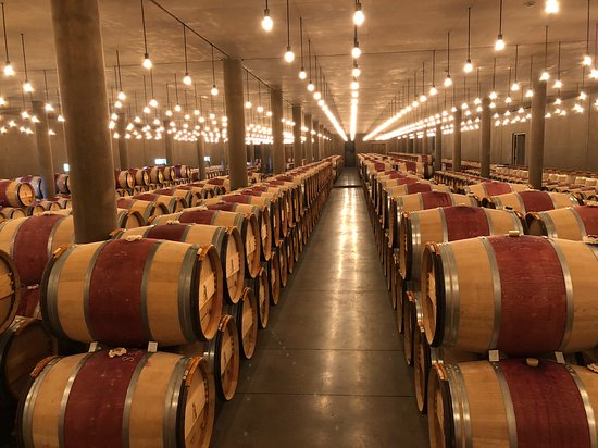 Pauillac, France: Immaculate storage