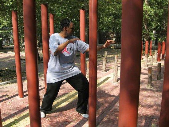 Tancheng County, China: Kung Fu fight