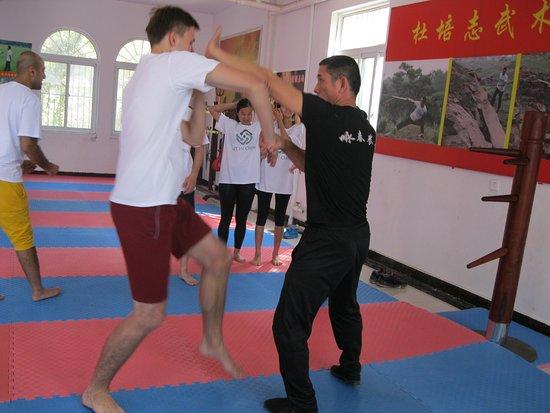 Tancheng County, Kina: Wing Chun Kung Fu class