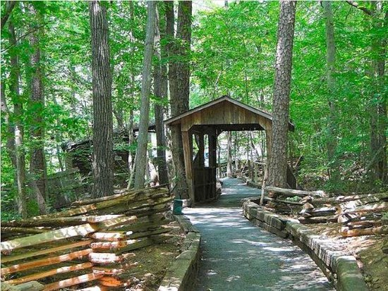 Snow Camp, NC: pathway to outdoor theatre