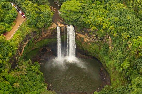 Jack Harter Helicopters - Tours: Wailua Falls - the Fantasy Island waterfall