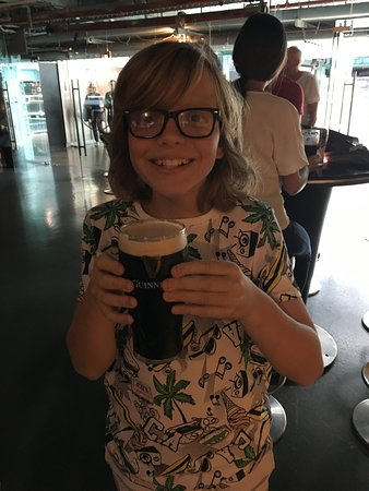 Guinness Storehouse: With Dad's freshly pulled pint