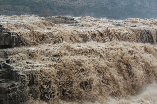 Hukou Waterfall: One view of the falls