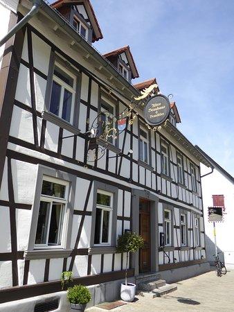 Zwingenberg, Tyskland: Schönes Fachwerkhaus.