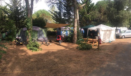 Camping Huttopia Chardons Bleus - Île de Ré: This is two plus sized pitches