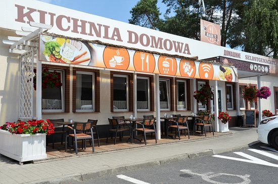 Chojnow, Polandia: Ogródek przy restauracji
