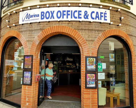 The Marina Theatre : Box Office and Cafe entrance - Marina Theatre