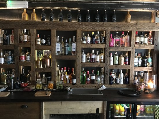 Gin Trap Inn: A selection of the gins