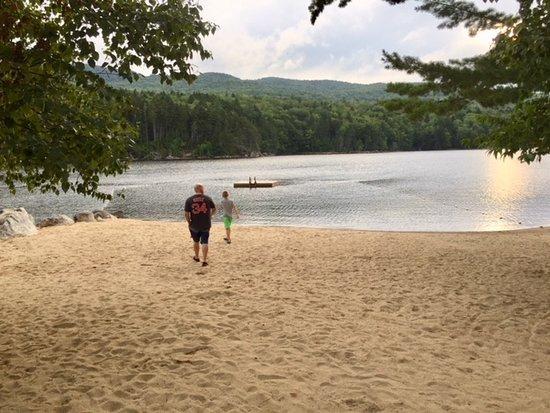 Andover, Maine: Campground beach