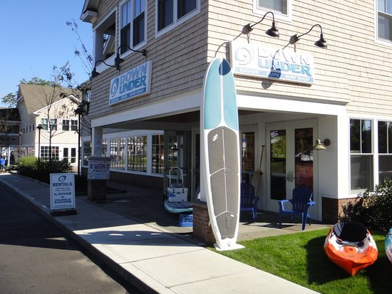Westport, CT: Downunder storefront - rentals, lessons, tours. Birthday parties, summer camps, corporate outing