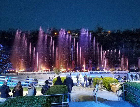 Lights, flames and music at the fountain. - Picture of Branson Landing  Fountain Show - Tripadvisor
